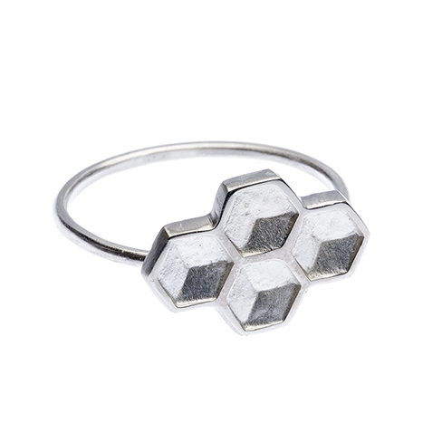 Honey Four Hex Ring