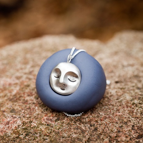 Medium Meditating Moon Necklace